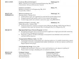 Graduate School Resume Sample Michael Resume