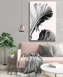 banana leaves art print tropical leaf wall art baby pink poster design ideas of pink wall on wall art printing ideas with banana leaves art print tropical leaf wall art baby pink poster