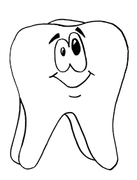 Small Picture Tooth is Smiling in Dental Health Coloring Page Color Luna