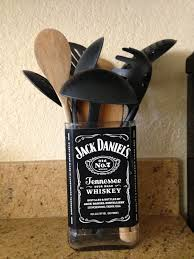 Repurposeup Cycle Jack Daniels Bottle To Hold Cooking Utensils Next