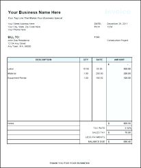Rent Invoice Template Adorable Monthly Invoice Template Homefit