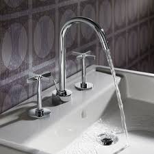 stainless steel bathroom faucets. Magnificent Picture Of Bathroom Design With Various Widespread Sink Faucet : Wonderful Decoration Using Stainless Steel Faucets