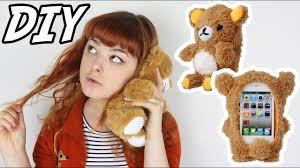 DIY Plush <b>Bear</b> Phone Case | Make Thrift Buy #23 - YouTube