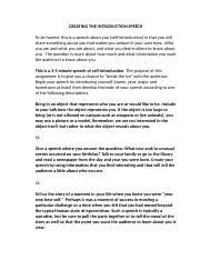 outline essay my life in a bag tiffany williams communication  3 pages the introduction speech