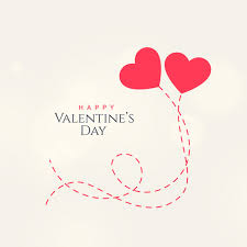 Valentinsday Card Sweet Valentines Day Card Design With Two Floating Hearts Vector