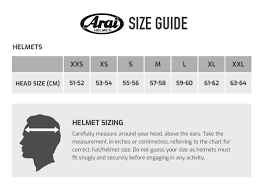 Find The Right Size Arai Helmet For You With Our Arai Size