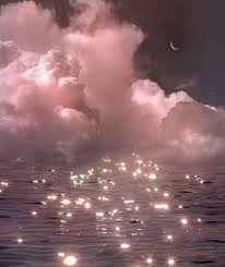 pink #aesthetic #glitter #night #clouds ...