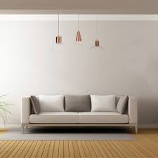Urban Designs Rose Gold Metal And Glass 3 Lights Hanging Lamp
