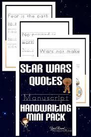 Star Wars Quotes Enchanting Star Wars Manuscript Handwriting Mini Pack Year Round Homeschooling