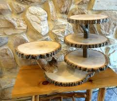 Large Wooden Tree Display Stand Beauteous Large Tree Slice Cupcake Stand Rustic Wedding Dessert Display Stand