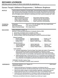 Experienced Resume Samples For Software Engineers Software Engineer