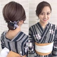 肩につくくらいの長さでできる 浴衣しっぽりヘアスタイル