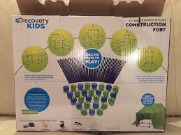 Easy Forts To Build Amazoncom Discovery Kids Construction Fort 77pc Build Play