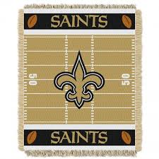 new orleans saints nfl woven jacquard baby throw full size