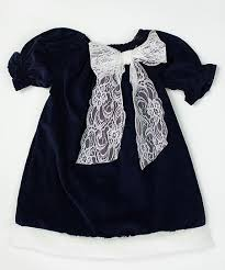 Caught Ya Lookin Navy Corduroy Bow Priscilla Bishop Dress - Infant &  Toddler | Best Price and Reviews | Zulily