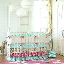 turquoise baby bedding girl baby bedding set garden crib bedding girl nursery bedding carousel designs throughout