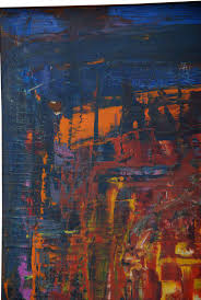 for your consideration a vintage abstract painting singed with the initials k a in