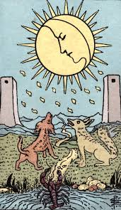 You need to try to sit with the uncertainty, don't try to force things or people to do things. Incandescent Tarot The Moon Tarot Card Meaning