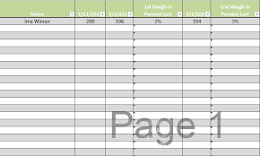 Biggest Loser Excel Spreadsheet Download Biggest Loser Tracking Spreadsheet Template Excel Tmp