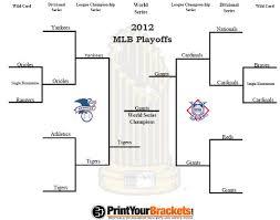 2012 Mlb Playoff Bracket World Series Results