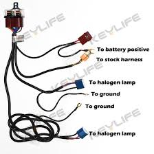 relay wire harness for 9003 h4 hb2 headlight ceramic socket relay wire harness 2 pcs 1157 1158 2057 2357