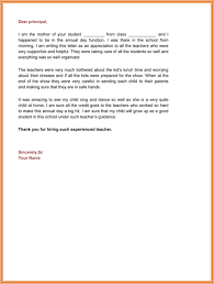 teacher appreciation letter from principal appreciation letter 5 plus printable sample letters