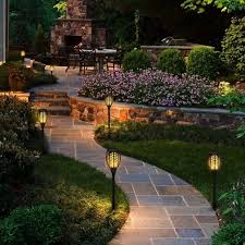 garden ground path road led solar luxus outdoor torch lights awesome outdoor villa torch sconce odb0043