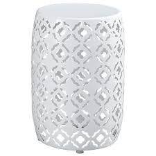 white round end table. T506-006 Ashley Furniture Marxim - Multi Living Room End Table White Round