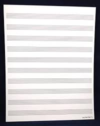 Manuscript Paper 10 Staff For Sheet Music Composition Song Writing Piano