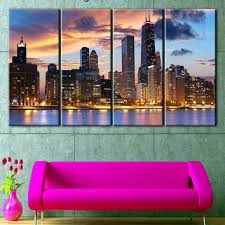 chicago canvas art chicago skyline chicago photo chicago wall