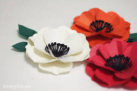 Make A Paper Poppy Flower How To Make A Poppy Flower With Paper Tutorial And Cutting