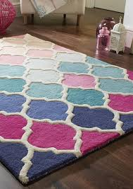 illusion roa pink blue moroccan rug