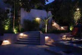 modern staircase lighting contemporary garden