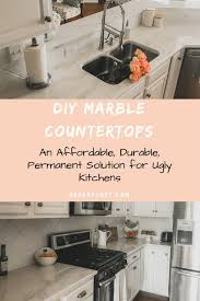 diy marble countertops permanently cover old granite or laminate counters breeatlast com