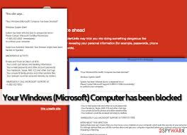 Remove Your Windows Microsoft Computer Has Been Blocked