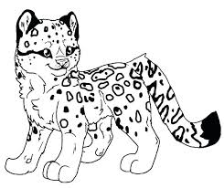 Leopard Coloring Pages Pdf Printable Pictures Of Leopard Pages