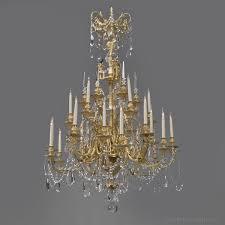 a fine louis xvi style gilt bronze and cut glass thirty light chandelier