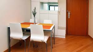 modern furniture small apartments. Beautiful Appealing Modern Kitchen Table Set Inside Small Apartment With Wood Floor And White Acrylic Chairs Furniture Design For Apartments .