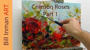 art class oil painting demo part 1 crimson roses muncie indiana