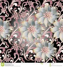 Floral Seamless Pattern. 3d Flowers ...