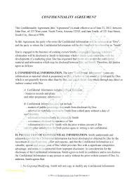 Mutual Confidentiality Agreement template Mutual Nda Template Confidentiality Agreement Free Best Of 78