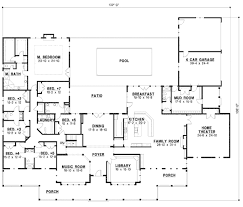 one story floor plans with dimensions. Unique With Country Style House Plan  7 Beds 600 Baths 6888 SqFt 67 To One Story Floor Plans With Dimensions S