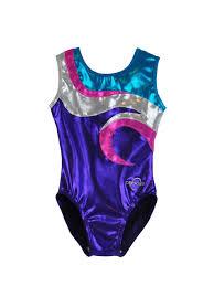 obersee o3gl051 obersee s s gymnastics leotard swirl purple walmart