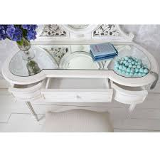 glass top dressing table