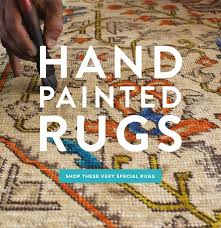 hand painted rugs