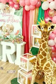 safari baby shower themes for girls