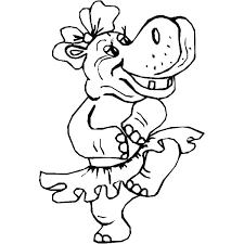 Dance Coloring Pages Free Printable Tap Ring Drawn Page 6 Hippo Girl