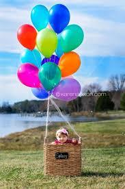 baby in basket with balloons so cute hot air ballon idea photo photography