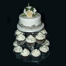 cup cake stand assemble and disassemble round acrylic 3 4 tier cupcake for birthday wedding party home free in stands from garden on rustic
