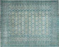 blue green outdoor rug hand knotted rugs encarnacion orange indoor area